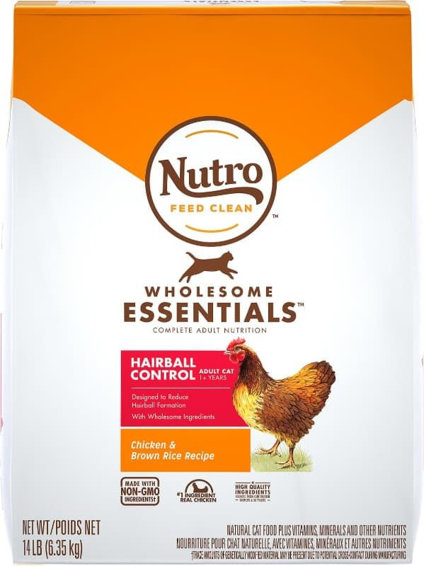nutro wholesome essentials hairball control chicken and brown rice adult cat