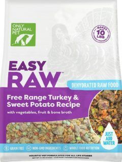 only natural pet easyraw turkey and sweet potato raw grain-free dehydrated dog food