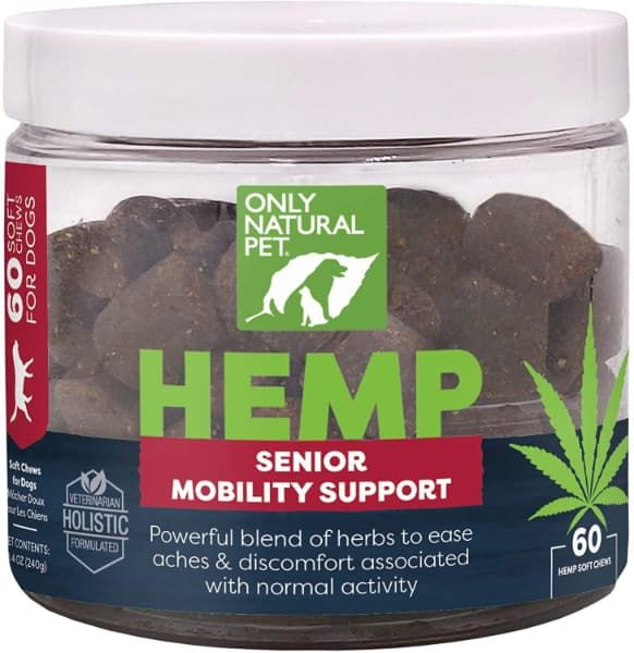 only natural pet hemp advanced hip and joint supplement