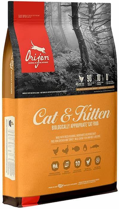 orijen high-protein grain-free premium quality meat dry kitten food