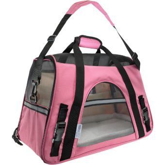 paws pals pink pet carrier large