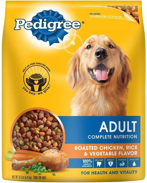 pedigree adult complete nutrition roasted chicken rice vegetable flavor dry dog food