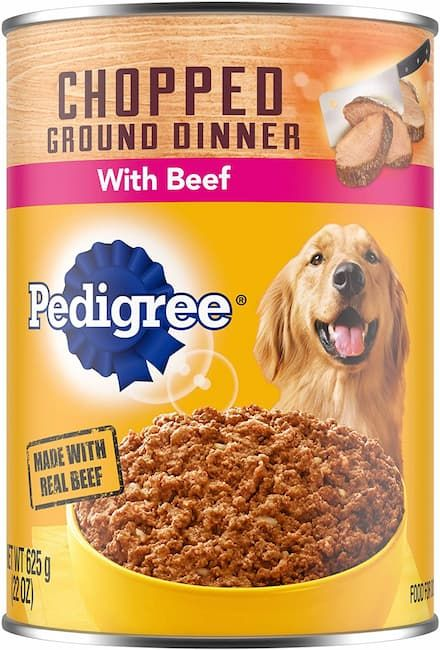 pedigree chopped meaty ground dinner
