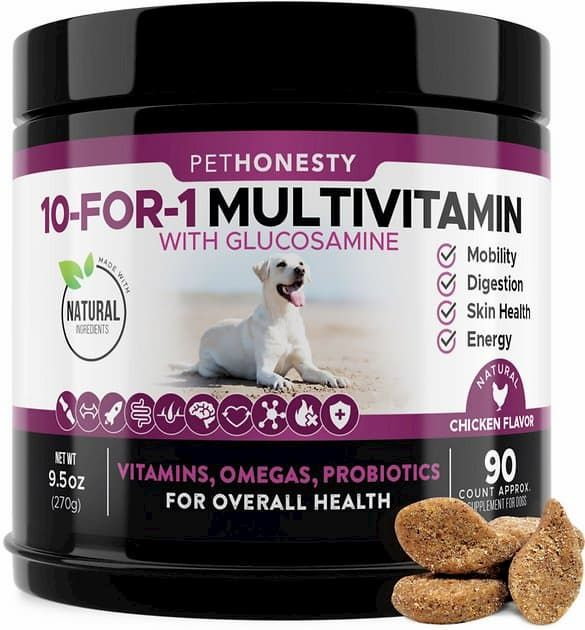 pethonesty 10-for-1 multivitamin with glucosamine