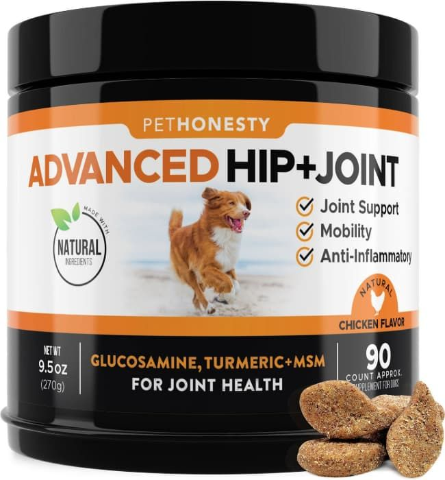 pethonesty advanced hip and joint chews