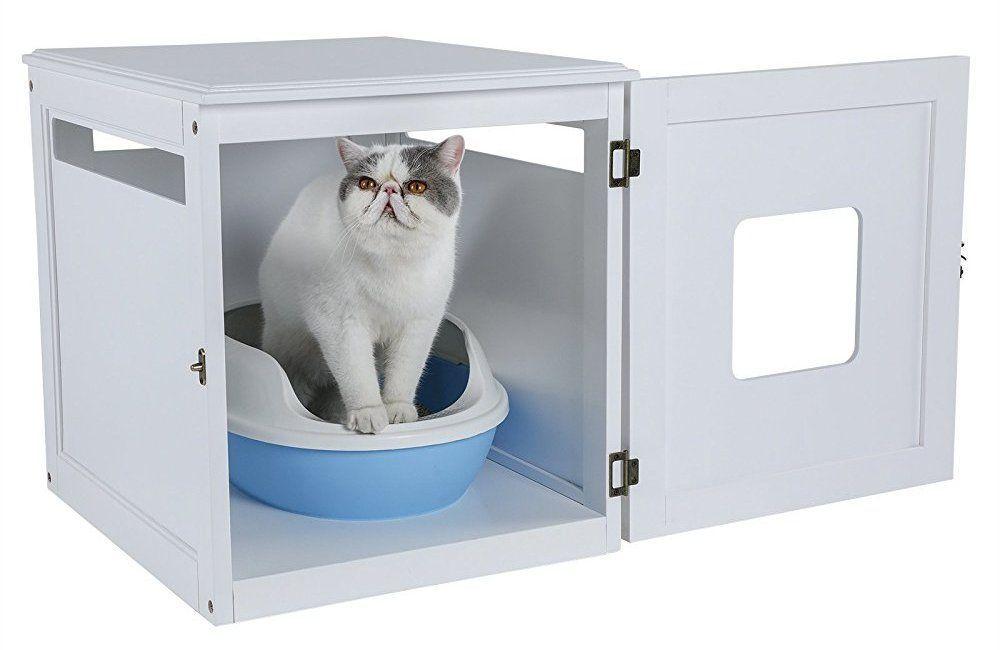 petsfit assemble odorless night stand litter box furniture