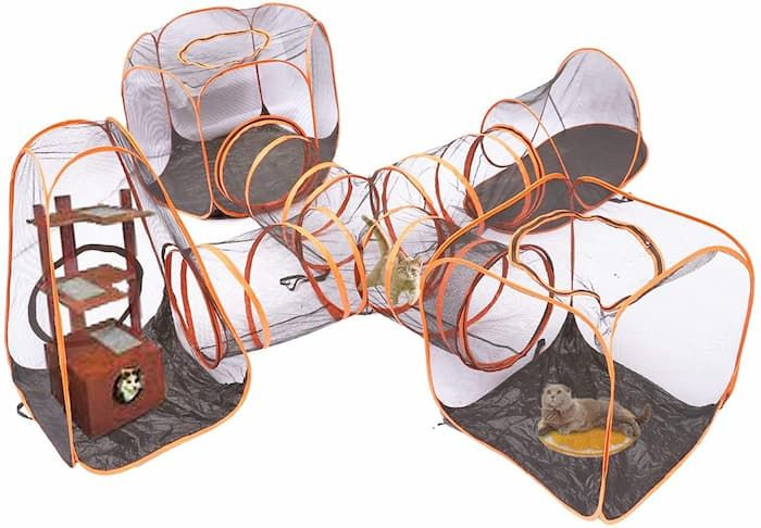 portable pet tent dog cat playpen tunnels