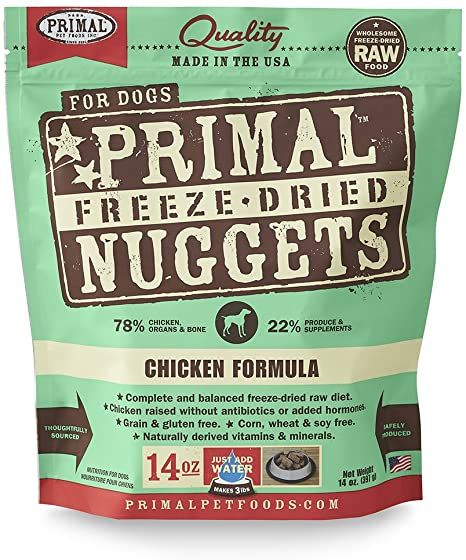 primal freeze dried dog food chicken formula