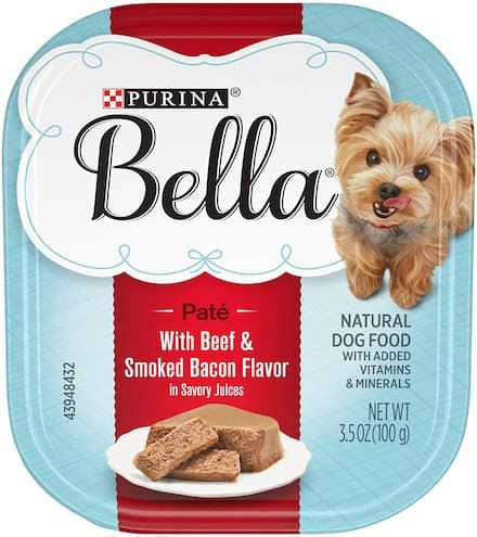 purina bella with beef and smoked bacon
