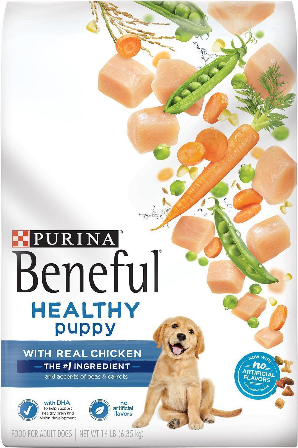 purina beneful healthy puppy with real chicken dry dog food