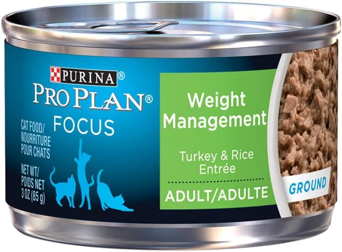 purina pro plan focus adult weight management canned cat food