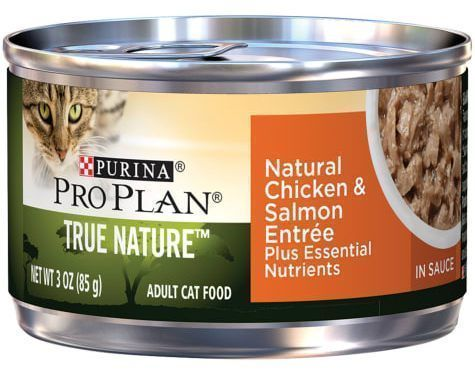purina pro plan natural chicken and salmon entree in sauce wet cat food