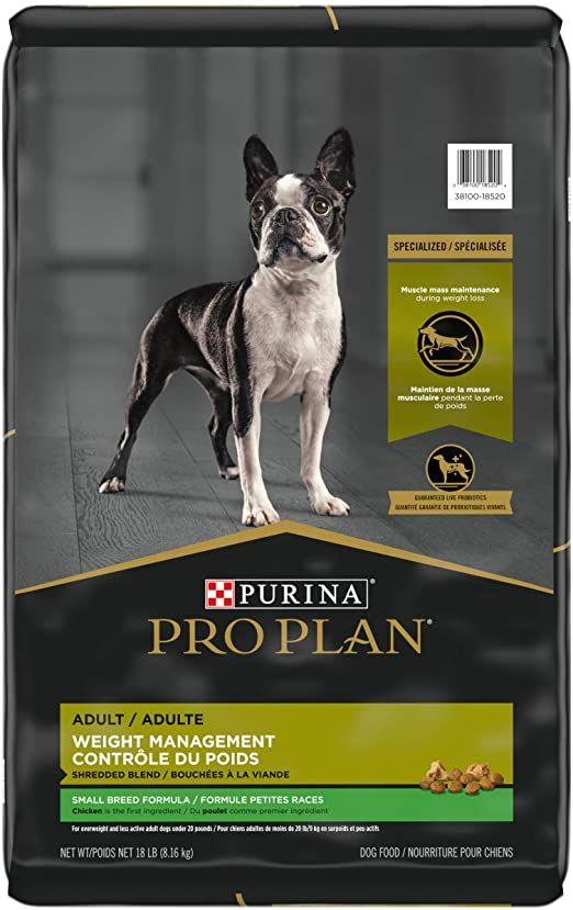 purina pro plan weight management adult small breed formula