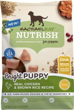 rachael ray nutrish bright puppy natural real chicken and brown rice recipe dry food