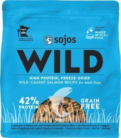 sojos wild-caught salmon recipe grain-free freeze-dried raw dog food