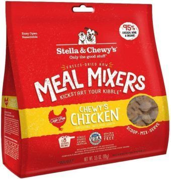 stella and chewys chewys chicken meal mixers freeze-dried raw dog food topper