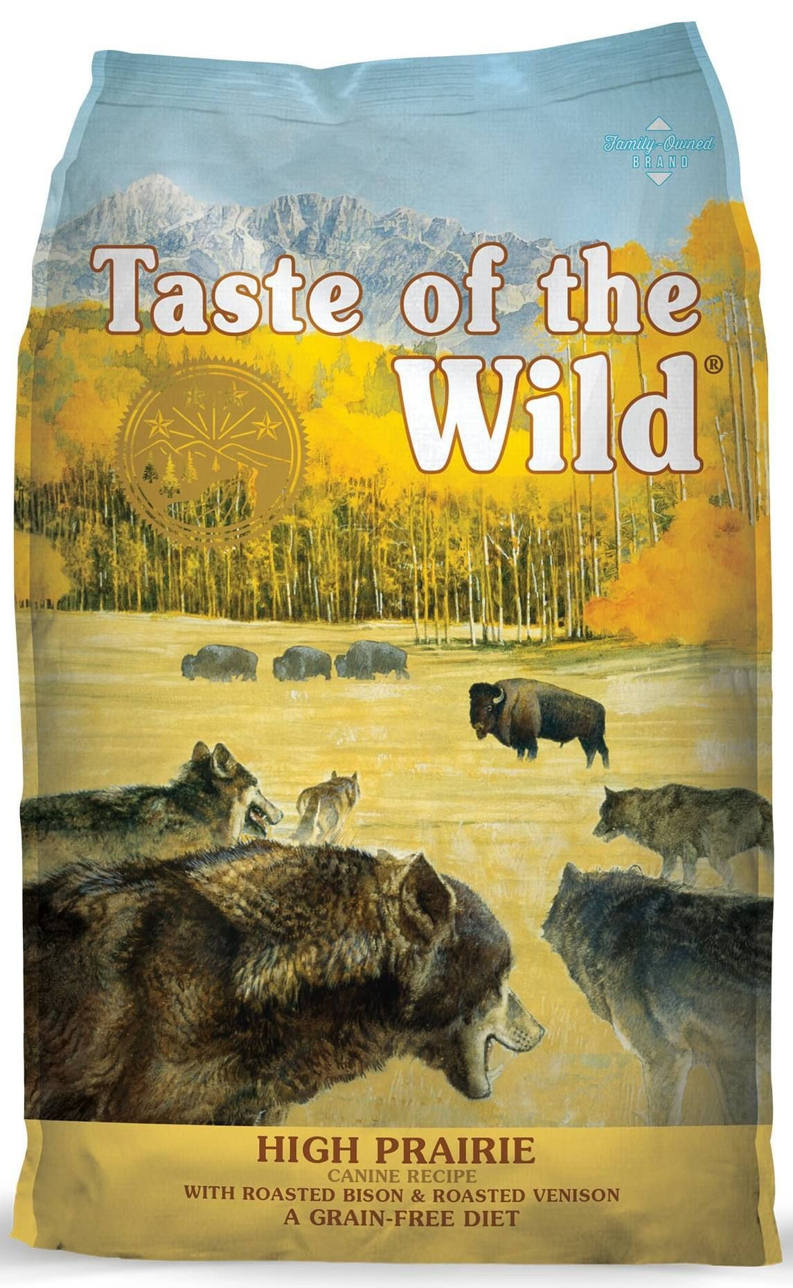 taste of the wild high prairie grain free roasted bison and venison dry dog food
