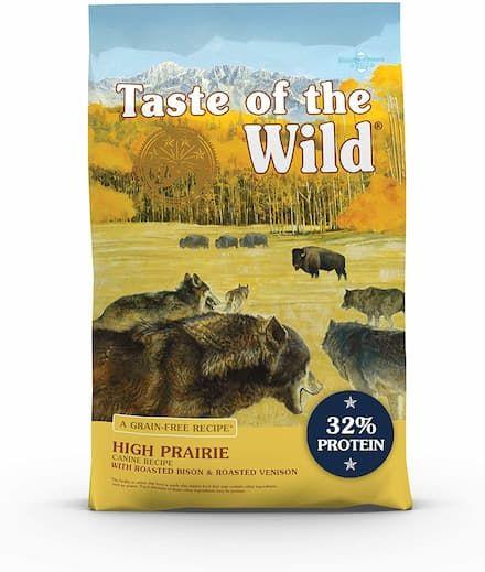 taste of the wild high prairie roasted bison venison dog food