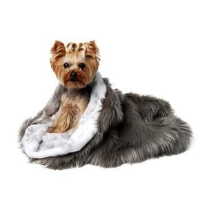 taupe shag cuddle cup dog bed