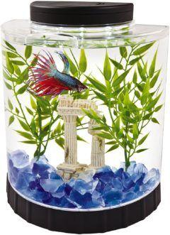 tetra led half moon aquarium kit