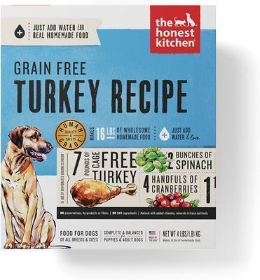 the honest kitchen dehydrated grain-free turkey dog food