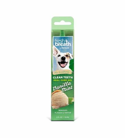 tropiclean fresh breath clean teeth vanilla mint oral care gel
