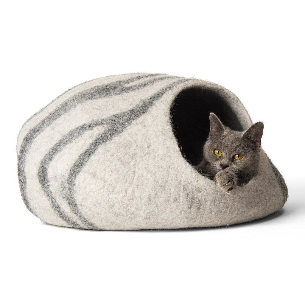 twin critters handcrafted wool cat cave
