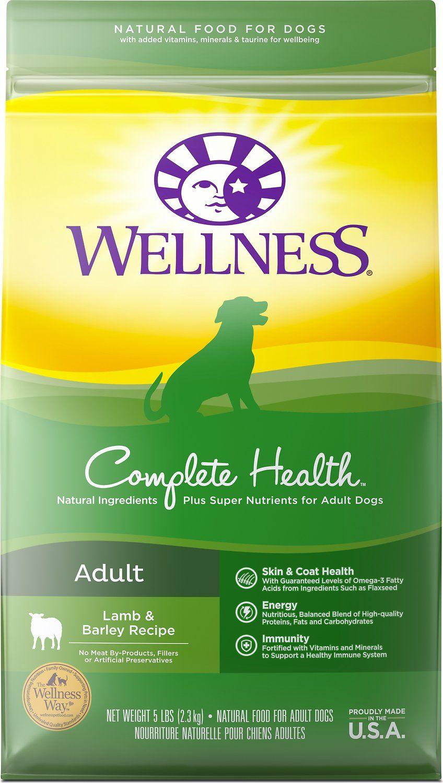 wellness complete health natural lamb dry dog food