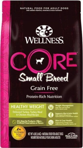 wellness core grain free small breed healthy weight