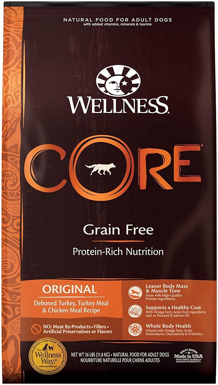 wellness core natural dry dog food original turkey chicken