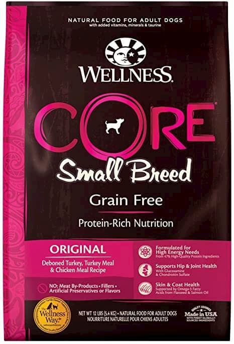 wellness core natural grain free small breed dry dog food