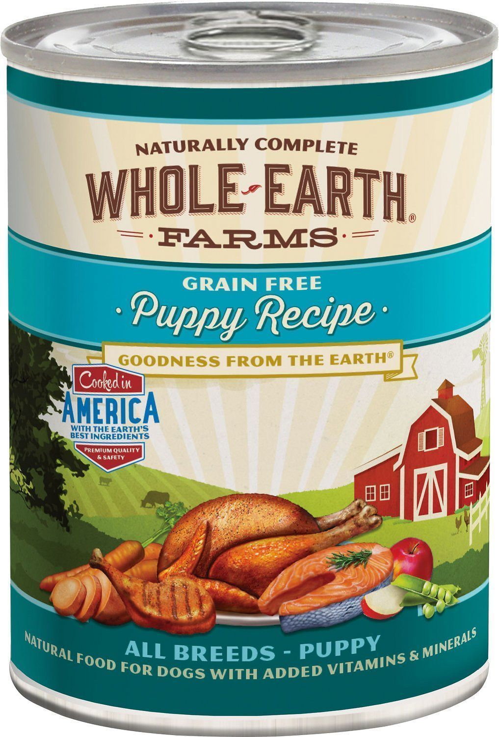 whole earth farms grain-free puppy recipe canned dog food