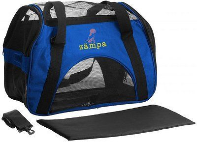 zampa soft-sided airline-approved dog cat carrier bag