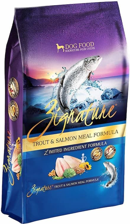zignature limited ingredient trout salmon meal formula