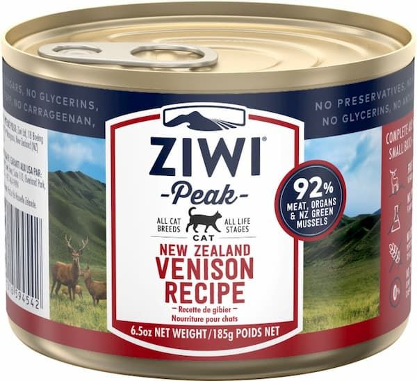 ziwi peak venison recipe canned cat food