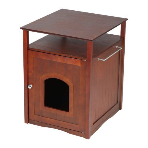 zoovilla cat washroom night stand and pet house in espresso